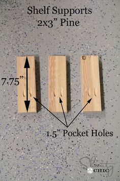 DIY Floating Shelves Note to self: to make removable - nail the trim and the top together first. Then slide it on to the support and counter sink some screws along the back and sides of the top board to screw into the supports Diy Wood Shelves, Diy Hanging Shelves, Wood Floating Shelves, Diy Shelving, Wall Shelves, Diy Simple, Easy Diy, Stairway Storage, Dyi