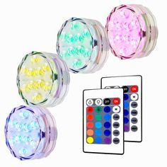 amazon com engrepo pool lights, fountain lights, submersible Rbg Wiring Multiple Lights Pond litake 4 packed submersible lights rgb multi color water resistant ip67 with remote control Three-Way Wiring Multiple Lights