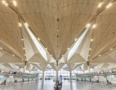 Pulkovo International Airport in St. Petersburg, Russia by Grimshaw Architects with Ramboll and Pascall + Watson