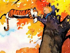 Lazy Fall Days - Calvin and Hobbes.