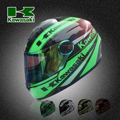 89.57$  Watch now - http://ali2fe.worldwells.pw/go.php?t=32676494874 - motorcycle motorcross Knight equipment  Kawasaki racing riding helmet karting full face helmets multiple color and size
