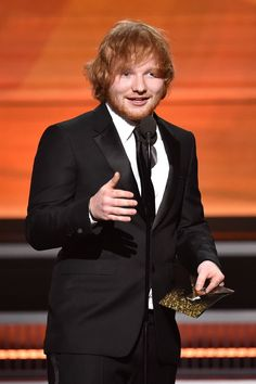 Ed Sheeran Wins His First Grammys for 'Thinking Out Loud': Photo Grammy Award Winner is now a title that Ed Sheeran will have for the rest of his life after picking up two awards so far at the 2016 Grammy Awards held at the Staples… Song Of The Year, Album Of The Year, Grammy Awards 2016, Françoise Hardy, Latest Albums, Ed Sheeran, Women In History, Celebs, Music