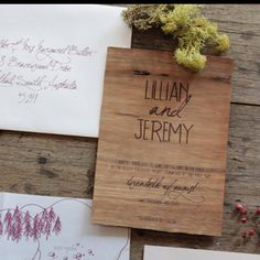 Love these Natural Wood Invitations