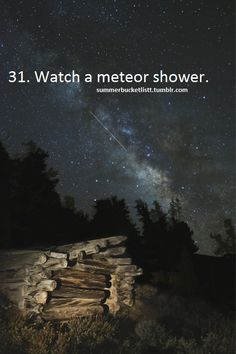 I haven't seen a meteor shower in years. I can't wait to see another. Bucket List Before I Die, Life List, Meteor Shower, Summer Bucket Lists, Adventure Is Out There, So Little Time, Places To See, Things To Do, Astronomy