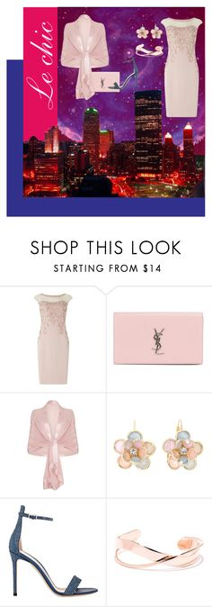 """""""Summer Date: Rooftop Bar"""" by oursunnycdays ❤ liked on Polyvore featuring Giclee Gallery, Phase Eight, Yves Saint Laurent, Ghost, Mixit, Gianvito Rossi, summerdate and rooftopbar"""
