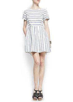 MANGO - CLOTHING - Dresses - Navy doll dress