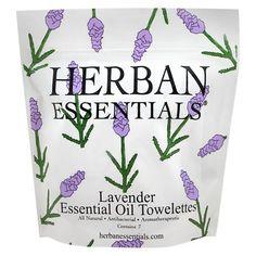 Herban Essentials Lavender Essential Oil Towelettes - 7Ct