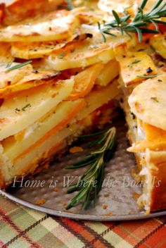 Potato Gratin With Yukon And Sweet Potatoes From The Home Is Where The Boat Is