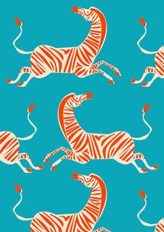 Zebra Illustration, Pattern Illustration, Animal Illustrations, Illustration Animals, Digital Illustration, Illustrations Posters, Surface Pattern Design, Pattern Art, Retro Pattern