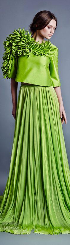 LINE - Jean Louis Sabaji Greenery 2017 Pantone colour of the year #Luxurydotcom