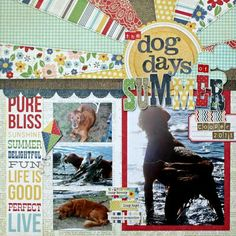 Love this layout design by Kim Holmes, and the Summer Fresh collection by Simple Stories.