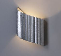 """10"""" Faux Galvanized Steel Winged Wall Sconce - Left $249.00"""