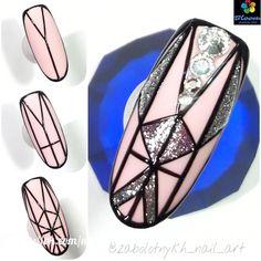 Trendy nail art design diy lines Nail Art Blog, Nail Art Diy, Diy Nails, Nail Nail, Aztec Nails, Chevron Nails, Line Nail Art, Matte Nail Art, Nail Art Techniques