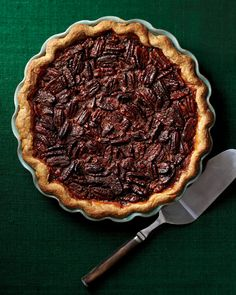 Brandied Pecan Pie-This pie uses the crust from our Brown-Sugar Buttermilk Pie recipe. If you want to make both pies, prepare a double batch of dough, dividing it into 2 disks before chilling overnight or freezing up to 3 months. Tart Recipes, Dessert Recipes, Pastry Recipes, Dessert Ideas, Sweet Recipes, Maple Pecan Pie, Pecan Pies, Thanksgiving Pies, Martha Stewart