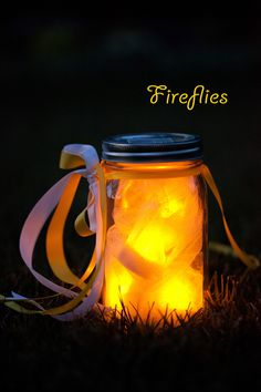 Fireflies; DIY with battery operated tealights