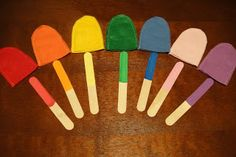 Faith In Small Things: Popsicle Color Match