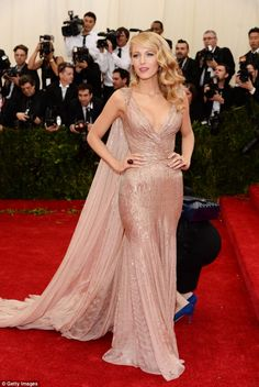 Stunning: Actress Blake Lively in Gucci at the Charles James: Beyond Fashion Costume Institute Gala at the Metropolitan Museum of Art