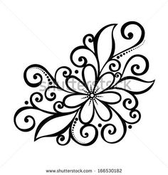 Find eps vector ethnic doodle pattern with place for your text Stock Images in HD and millions of other royalty-free stock photos, illustrations, and vectors in the Shutterstock collection. Flower Pattern Drawing, Flower Patterns, Drawing Flowers, Flower Drawings, Flower Design Drawing, Flower Outline, Vector Pattern, Pattern Design, Design Design