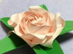 Only one origami rose 06