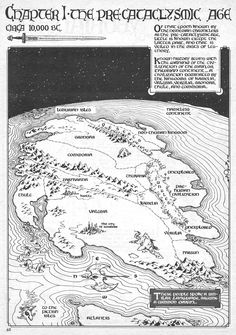 """pen-monkey: """"A map used to illustrate a Savage Sword Of Conan piece illustrating an essay by Howard on the Hyborian age. I'm a sucker for these maps in Fantasy books and comics. """""""