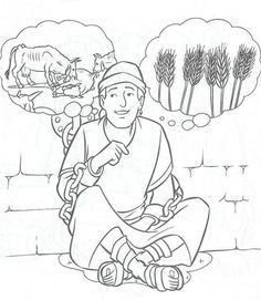 Bible coloring pages on pinterest coloring pages kids for Joseph king of dreams coloring pages