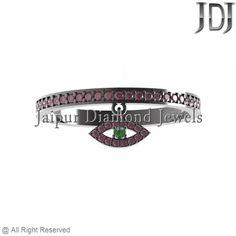 Anniversary Gemstone Rings Manufacture #jaipurdiamondjewels #fashion #rings #jewelry #sterlingsilver #silverjewelry #handmade #ruby #evileye