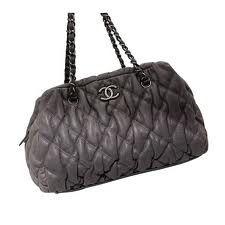 Chanel Classic Bowling Bag .- Black