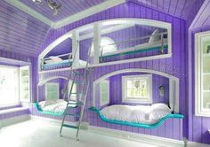 hate the purple but like the idea. walls are not high enough to do the upper bed but this is great for one wall. in a different color!