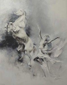 'Wild is the wind' 92x73cm (non disponible) Création de Sophie Dumas
