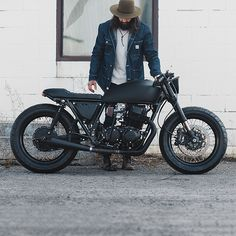 The brief was to make this CB750 blacker than a railway tunnel at midnight…