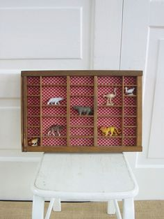 Vintage Type Printer Tray Wood Display Storage Red by vintagejane, $29.00