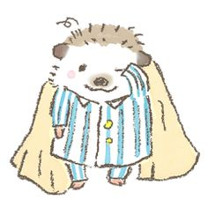 Hedgehog of stickers that can be enjoyed using.