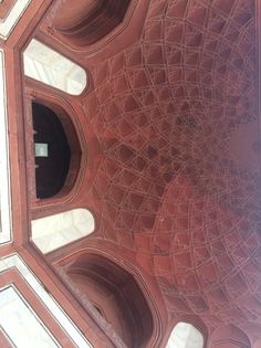 A shot of the ceiling in the building before the Taj Mahal. I love patterns, and thought this was particularly beautiful.