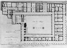 Plan of the star shaped villa farnese at caprarola by 16th century architect vignola travel - The star shaped villa ...