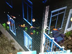 I think something went wrong here!!  Brooke has fish floating outside her house.