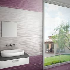 White Wave Tiles | Walls and Floors