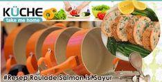 Resep Roulade Salmon isi sayur : Bahan : •200 gram ikan salmon yg di filet, kemudian dicincang kasar •50 gram wortel, cincang kasar •50 gram bayam, cincang kasar •1 butir telur, kocok lepas dalam mangkuk •1 butir telur, kocok lepas untuk membuat dadaran kulit roulade •1 sendok teh lada bubuk •½ sendok teh garam •1 sendok teh daun seledri cincang halus dst..