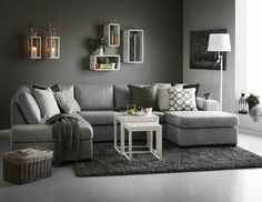 30 Affordable Apartment Living Room Design Ideas On A Budget - Knowing how to design a better living room can be cost-effective in the long run. When you understand the trick of living room design, the amount of money you can save is incredible. There wi Grey Carpet Living Room, Gray And Taupe Living Room, Living Room Furniture, Living Room Decor, Living Rooms, Living Spaces, Cheap Sofas, Small Room Design, Sofa Design