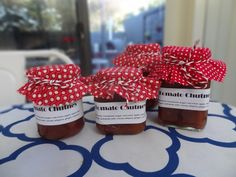 Traditional thermomix tomato chutney ...with spices, apples, red onions, tomatoes, native