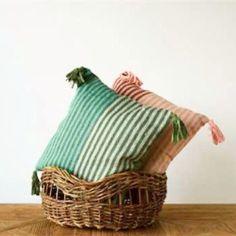 Stripe + Tassel Pink