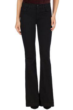 J Brand® | 23021 Maria Flare | Black High Waisted Jeans
