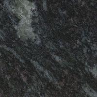 black granite counters and island