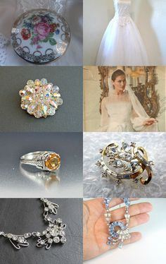 Vogue #Wedding #VINTAGE #VOGUETeam Treasury by Catherine Boudoir on Etsy #jewelry #fashion