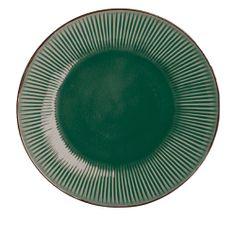 A colgar los delantales! Plato de ceramica en verde de House Doctor.