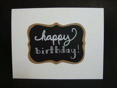 happy birthday. chalkboard card by JellybeanArtCards on Etsy