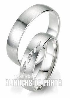 Par de alianças de compromisso em prata 950 Peso aproximado: 11,5 gramas o par http://casadasaliancasdeprata.com.br