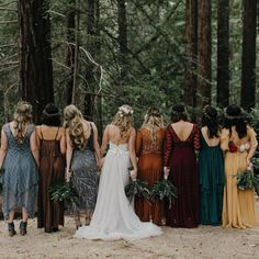 Just a buncha boho forest princesses. ✨ Dare I say, #squadgoals? Ugh, that made me cringe... It's true though. Best styled bridal party…