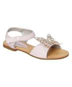 Look at this Kelly Kids Pink Stacey Sandal on #zulily today!