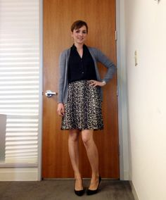 2cd983549d work wear - leopard pleated skirt Check out Dieting Digest