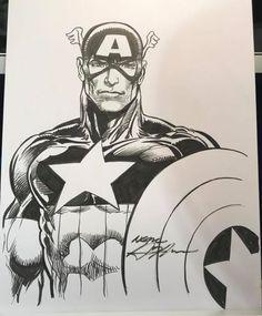 Captain America by Neal Adams #NealAdams #CaptainAmerica #SteveRogers #Avengers #Illuminati #SHIELD #AllWinnersSquad #TheInvaders #USArmy
